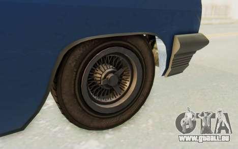 GTA 5 Declasse Voodoo Alternative v2 PJ für GTA San Andreas Rückansicht