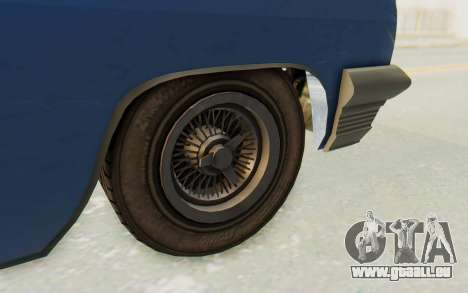 GTA 5 Declasse Voodoo Alternative v2 PJ pour GTA San Andreas vue arrière