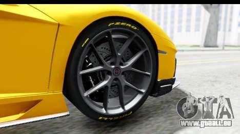 Lamborghini Aventador LP700-4 LB Walk pour GTA San Andreas vue intérieure