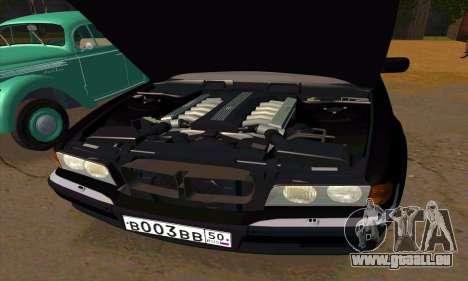 BMW 740i E38 pour GTA San Andreas vue de dessous