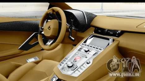 Lamborghini Aventador LP700-4 Novitec Torado pour GTA San Andreas vue de droite