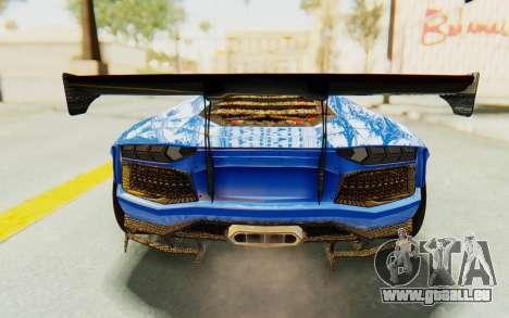 Lamborghini Aventador LP700-4 LB Walk Fenders für GTA San Andreas Unteransicht