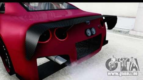 Nissan GT-R R35 Top Speed pour GTA San Andreas vue de côté