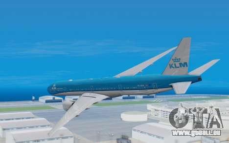 Boeing 777-300ER KLM - Royal Dutch Airlines v5 pour GTA San Andreas vue de droite