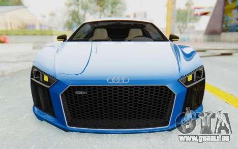 Audi R8 V10 Plus 2017 für GTA San Andreas Unteransicht