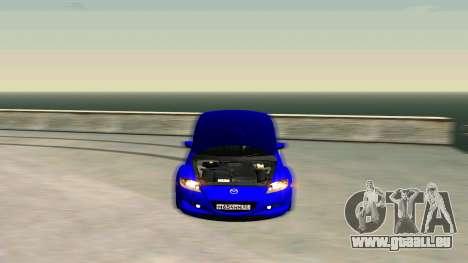Mazda RX-8 für GTA San Andreas Rückansicht