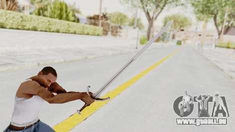 The Witcher 3: Wild Hunt - Sword v1 pour GTA San Andreas troisième écran