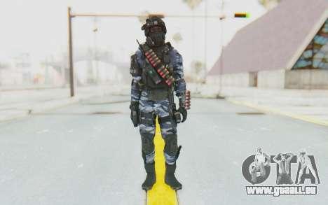 Federation Elite Shotgun Urban-Navy pour GTA San Andreas deuxième écran