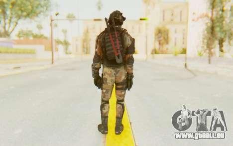 Federation Elite SMG Woodland-Flora für GTA San Andreas dritten Screenshot