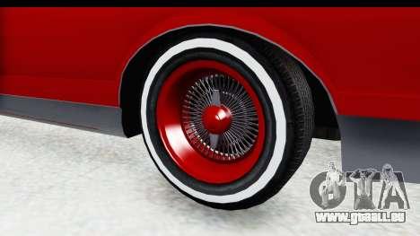 Chevrolet Monte Carlo Breaking Bad für GTA San Andreas Rückansicht