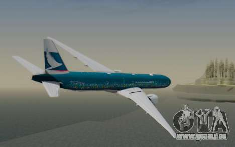 Boeing 777-300ER Cathay Pacific Airways v2 für GTA San Andreas linke Ansicht