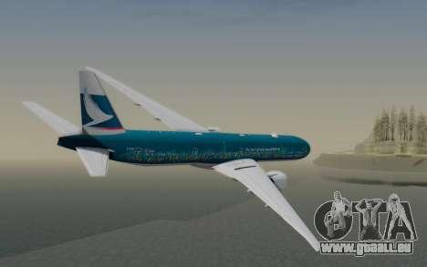 Boeing 777-300ER Cathay Pacific Airways v2 pour GTA San Andreas laissé vue