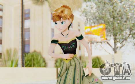 Frozen - Anna Coronation Dress pour GTA San Andreas