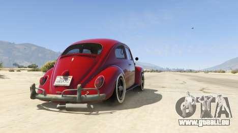 GTA 5 1963 Volkswagen Beetle 1.0.1 Rückansicht
