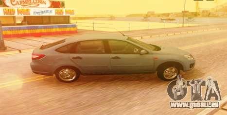 Lada Granta Liftback Beta v1 pour GTA San Andreas sur la vue arrière gauche