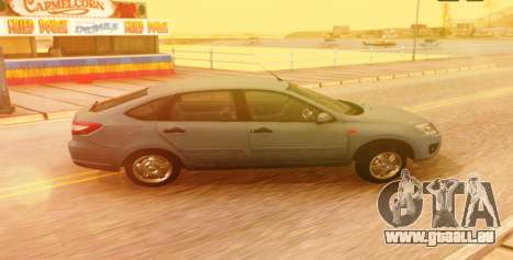 Lada Granta Liftback Beta v1 für GTA San Andreas zurück linke Ansicht