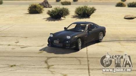 GTA 5 2002 Mazda RX-7 Spirit R Type arrière droit vue de côté