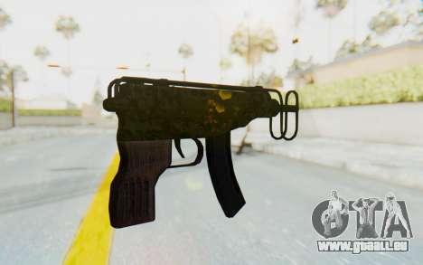 VZ-61 Skorpion Fold Stock Russian Gorka Camo für GTA San Andreas zweiten Screenshot