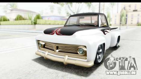 GTA 5 Vapid Slamvan Custom IVF für GTA San Andreas obere Ansicht