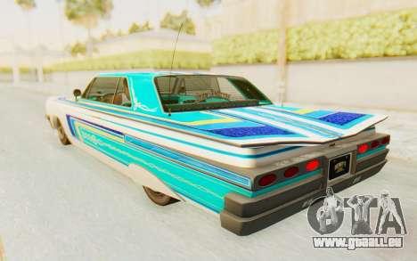 GTA 5 Declasse Voodoo Alternative v2 pour GTA San Andreas vue de dessus