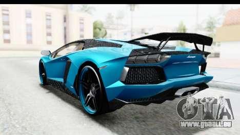 Lamborghini Aventador LP700-4 Novitec Torado pour GTA San Andreas vue intérieure