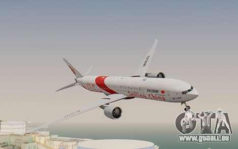 Boeing 777-300ER China Air für GTA San Andreas zurück linke Ansicht