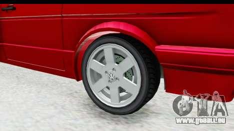 Volkswagen Golf Citi 1.8 1998 pour GTA San Andreas vue arrière