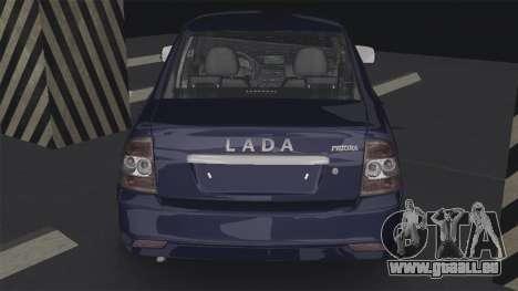 Lada Priora 2170 für GTA San Andreas zurück linke Ansicht