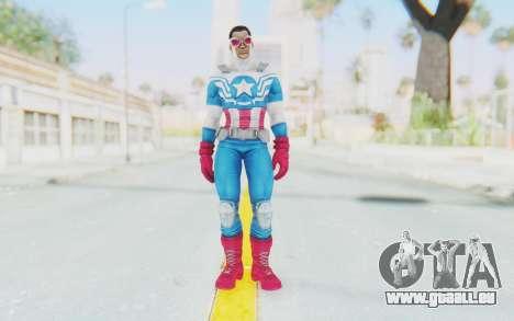 Marvel Heroes - Capitan America Sam Wilson pour GTA San Andreas deuxième écran