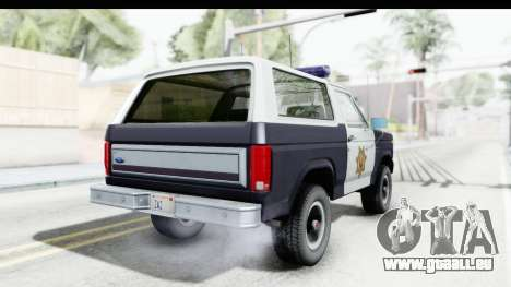 Ford Bronco 1982 Police für GTA San Andreas linke Ansicht