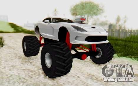 Dodge Viper SRT GTS 2012 Monster Truck für GTA San Andreas rechten Ansicht