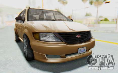 GTA 5 Vapid Minivan für GTA San Andreas zurück linke Ansicht