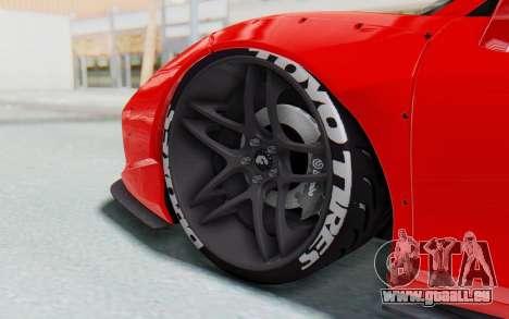 Ferrari 458 Liberty Walk pour GTA San Andreas vue de dessous