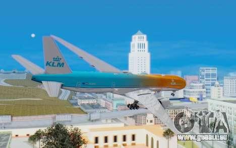 Boeing 777-300ER KLM - Royal Dutch Airlines v4 pour GTA San Andreas vue de droite