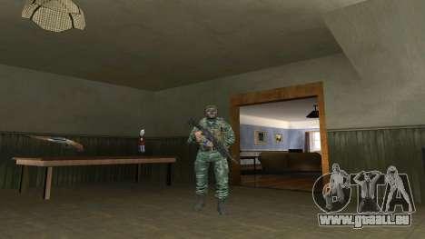 L'atmosphère de soldat en tenue de camouflage de pour GTA San Andreas