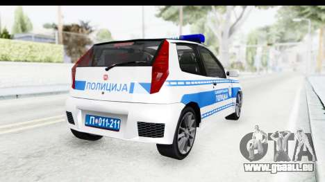 Fiat Punto Mk2 Policija pour GTA San Andreas laissé vue