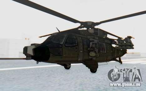 MGSV Phantom Pain UTH-66 Blackfoot für GTA San Andreas zurück linke Ansicht
