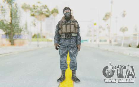 COD BO Russian Soldier Winter Balaclava pour GTA San Andreas deuxième écran