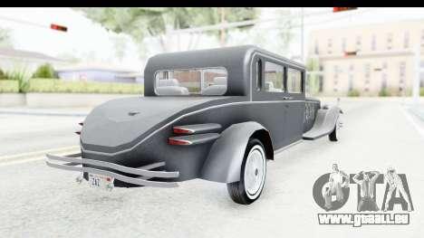 Unique V16 Sedan pour GTA San Andreas laissé vue