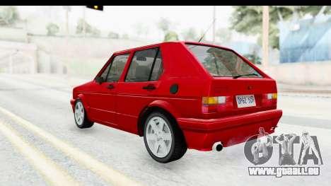Volkswagen Golf Citi 1.8 1998 pour GTA San Andreas laissé vue