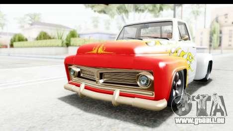 GTA 5 Vapid Slamvan Custom IVF für GTA San Andreas Unteransicht