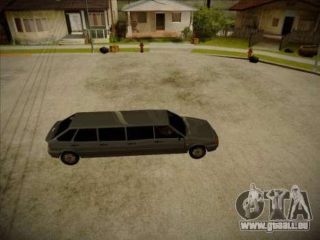 VAZ 2114 Verheerenden HQ-Modell für GTA San Andreas linke Ansicht
