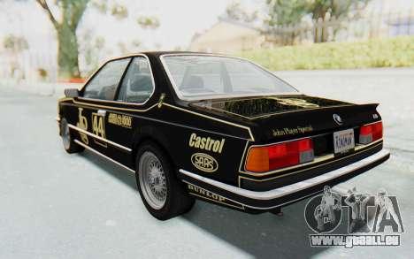 BMW M635 CSi (E24) 1984 HQLM PJ3 pour GTA San Andreas