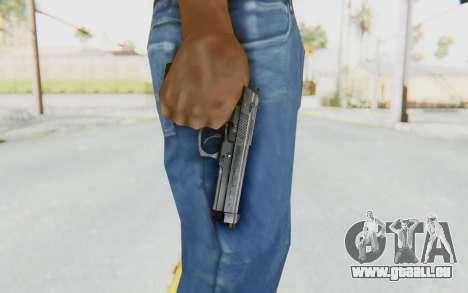 Tariq Iraqi Pistol Back v1 Silver pour GTA San Andreas troisième écran