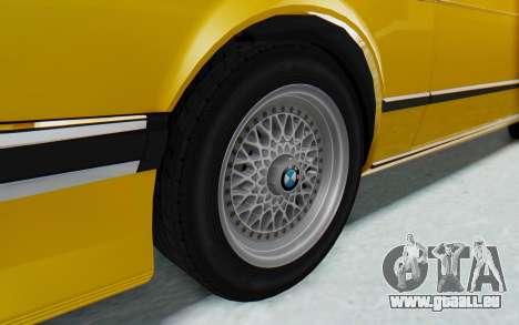 BMW M635 CSi (E24) 1984 HQLM PJ2 pour GTA San Andreas vue arrière
