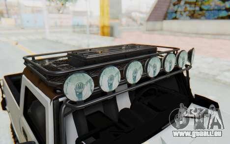 Hummer H2 pour GTA San Andreas vue de côté