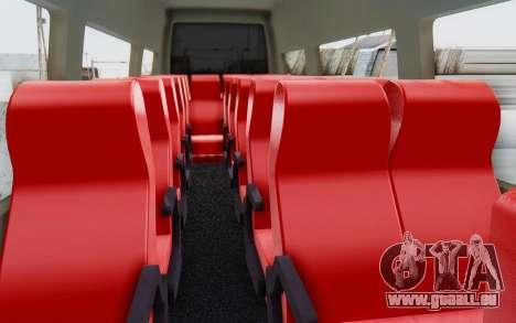 Iveco Daily Minibus 2015 pour GTA San Andreas vue intérieure
