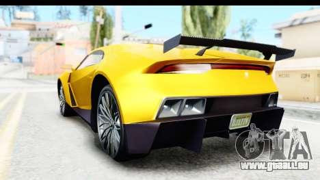 GTA 5 Pegassi Reaper v2 IVF pour GTA San Andreas sur la vue arrière gauche