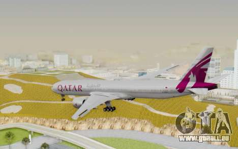 Boeing 777-300ER Qatar Airways v1 für GTA San Andreas linke Ansicht