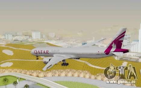 Boeing 777-300ER Qatar Airways v1 pour GTA San Andreas laissé vue